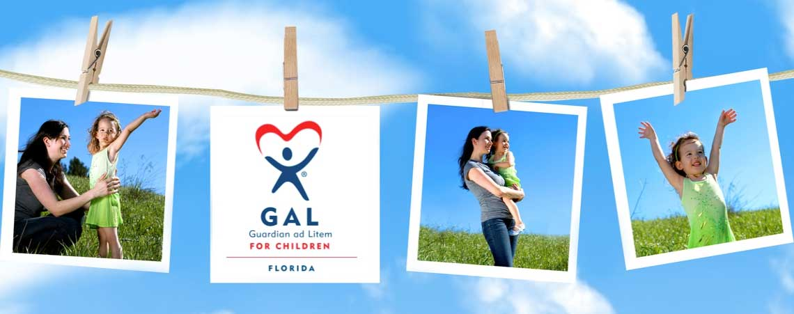 collage of photos and guardian ad litem logo