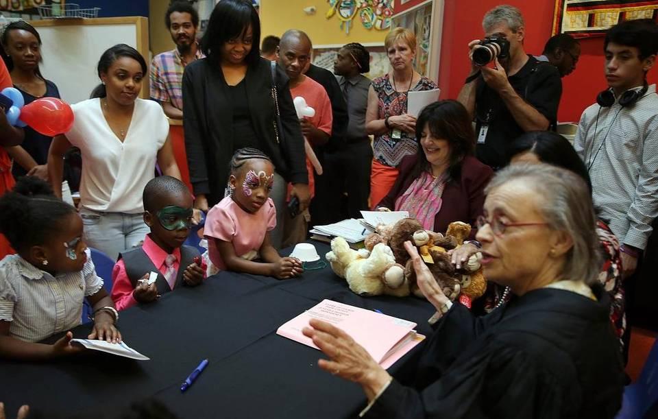 Judge Lederman at Miami Adoption Event