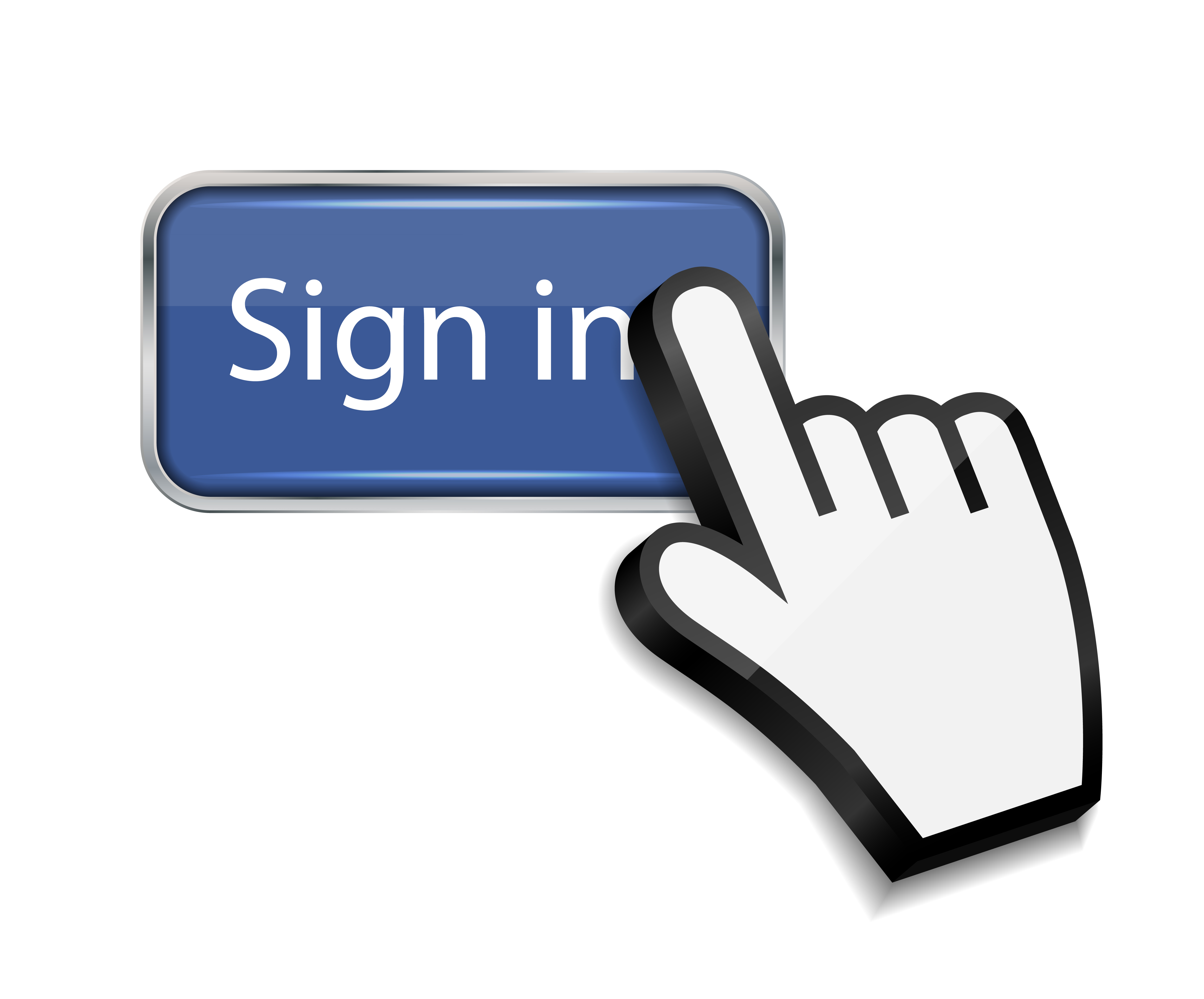 Sign In >> Mouse Hand Cursor On Sign In Button Vector Illustration Florida